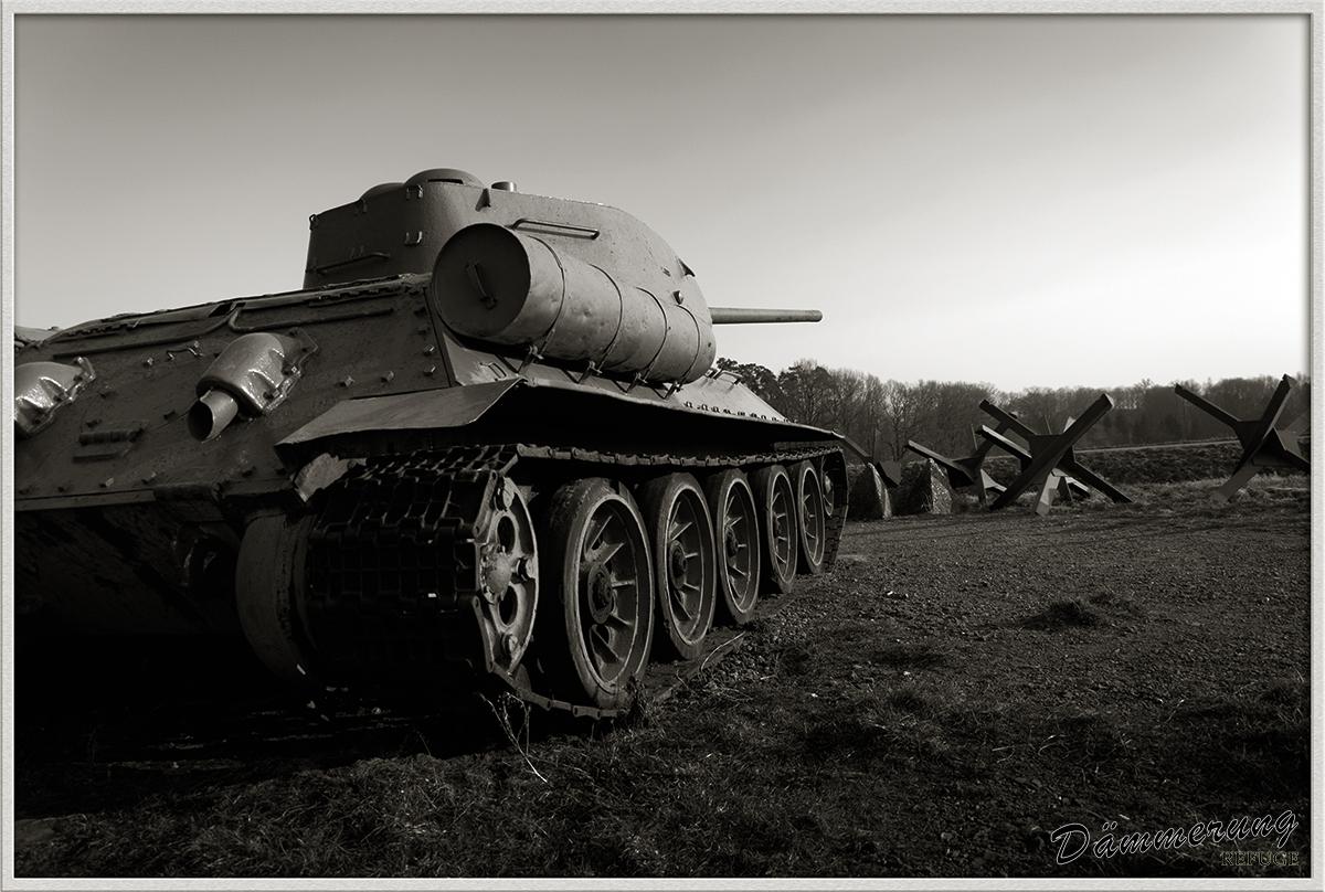 T 34 hledí do dálky